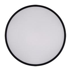 Plafony - plafoniera led okrągła w czarnej obudowie 48w totem 03928 ideus