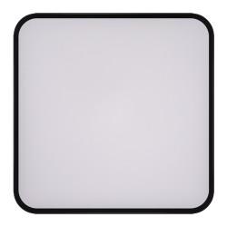 Plafony - plafoniera led kwadrat w czarnej obudowie 48w totem 03931 ideus