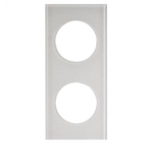 Ramka do opraw LED podwójna szkło biała kwadratowa LSR-SBK-X2 KONEKTO ZAMEL