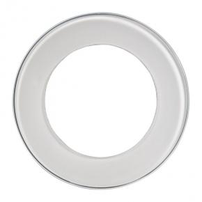 RAMKA KONEKTO okrągła pojedyncza białe szkło LSR-SBO-X1 ZAMEL