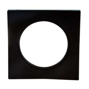 Ramka do opraw LED pojedyncza czarna kwadratowa LSR-CK-X1 KONEKTO ZAMEL