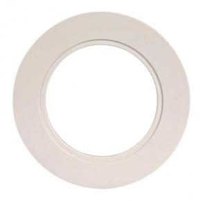 Ramka do opraw biała okrągła pojedyncza LSR-BO-X1 KONEKTO ZAMEL