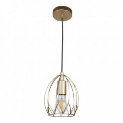 Lampy-sufitowe - lampa sufitowa wisząca metalowa złota tarent 316356 polux