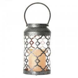 Dekoracje-swiateczne-led - lampion led ażurowy srebrny z rączką do zawieszenia zy2224 emos