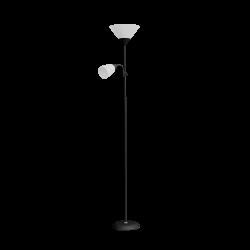 Lampy-stojace - czarno-białe oświetlenie podłogowe stojące 175 cm, max 25w e27, max 25w e14 urlar ls-2/b orno
