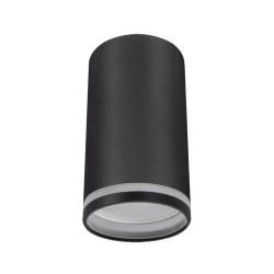 Oswietlenie - czarna oprawa sufitowa tuba z paskiem gu10 zula dwl 03990 ideus