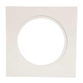 Ramka do opraw LED pojedyncza biała kwadratowa LSR-BK-X1 KONEKTO ZAMEL