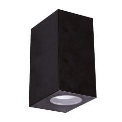 Kinkiety - czarna oprawa zewnętrzna na dwie żarówki gu10 góra-dół gamp 04019 ideus