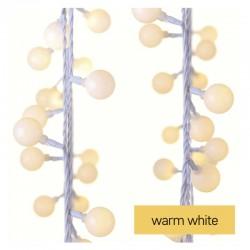 Oswietlenie-choinkowe - lampki na choinkę z timer-em 40xled 4m ip44 ciepła biel d5aw01 emos