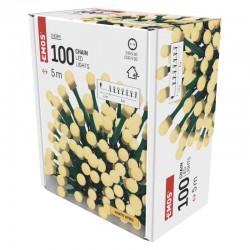 Oswietlenie-choinkowe - lampki choinkowe 100xled o długości 5m ciepła biel ip20 cherry d5gw02 emos