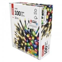Oswietlenie-choinkowe - lampki choinkowe 2 w 1 multicolor lub ciepła barwa światłą 100xled 10m ip44 d4ah01 emos
