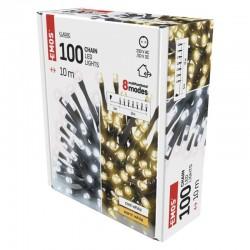Oswietlenie-choinkowe - lampka choinkowa 8 programów do wyboru 100xled 2w1 10m ip44 d4al05 emos