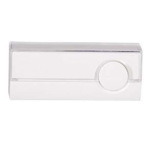 Biały przycisk dzwonkowy hermetyczny z podświetleniem PDJ-213P ZAMEL