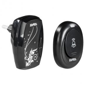 Dzwonki-do-drzwi-bezprzewodowe - czarny dzwonek bezprzewodowy sieciowy z hermetycznym przyciskiem 100 m st-960 blues zamel