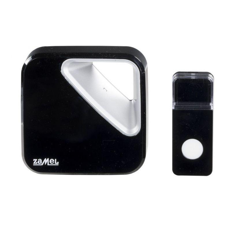 Dzwonki-do-drzwi-bezprzewodowe - bezprzewodowy dzwonek do drzwi czarny 150m st-390 zumba zamel firmy ZAMEL