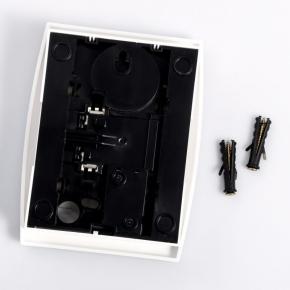 Gongi-elektryczne - gong dwutonowy biały dzwonek drzwiowy zamel turbo gns-931