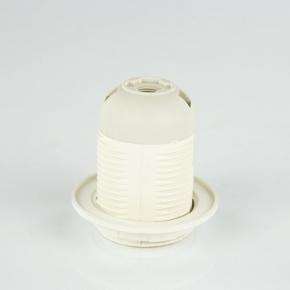 Oprawki-montazowe - plastikowa oprawka e27 z kołnierzem biała oe-27k plast-rol