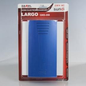 Gong Largo Biało Niebieski  GNS-208 ZAMEL