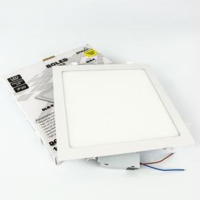 Świecący mały panel kwadratowy BEMKO LED 24W  biały C70-DLB-S-240-4K