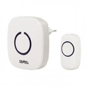 Biały dzwonek bezprzewodowy bateryjny zasięg 100m ST-940 ZAMEL