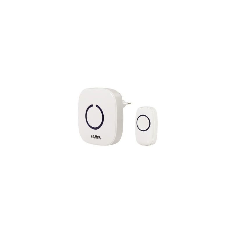 Dzwonki-do-drzwi-bezprzewodowe - biały dzwonek bezprzewodowy bateryjny zasięg 100m st-940 zamel firmy ZAMEL