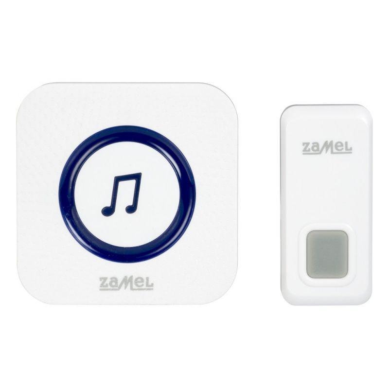 Dzwonki-do-drzwi-bezprzewodowe - biały bezprzewodowy dzwonek sieciowy st-970 rock zamel firmy ZAMEL