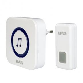 Dzwonki-do-drzwi-bezprzewodowe - biały bezprzewodowy dzwonek sieciowy st-970 rock zamel