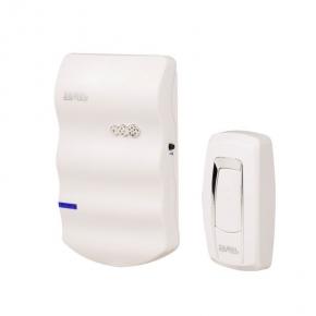 Dzwonki-do-drzwi-bezprzewodowe - dzwonek bezprzewodowy bateryjny biały z przyciskiem st-916 sonata zamel