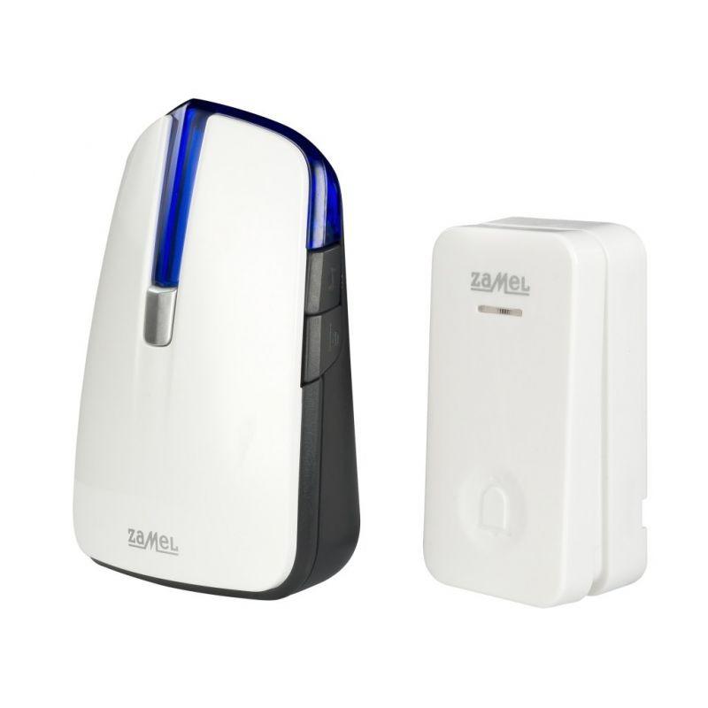 Dzwonki-do-drzwi-bezprzewodowe - dzwonek bezprzewodowy bateryjny z przyciskiem st-370 rumba zamel firmy ZAMEL