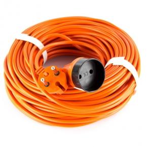 Przedłużacz elektryczny ogrodowy dwużyłowy pomarańczowy bez uziemienia 1 gn. 2X1mm2 40m P01340 EMOS