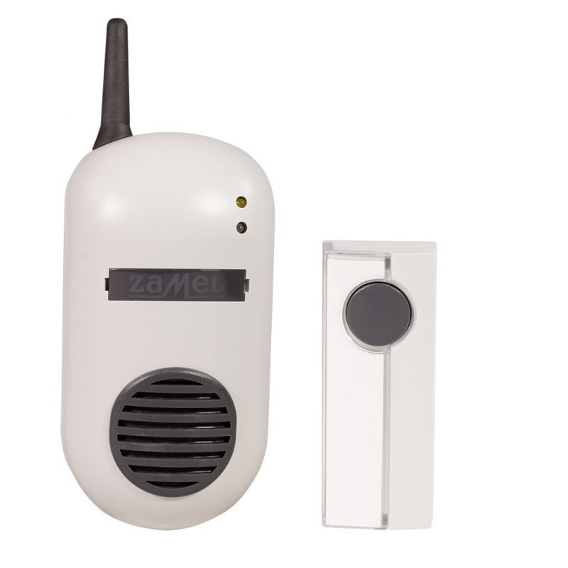 Dzwonki-do-drzwi-bezprzewodowe - dzwonek bezprzewodowy z przyciskiem hermetycznym 100m drs-982k bulik zamel firmy ZAMEL