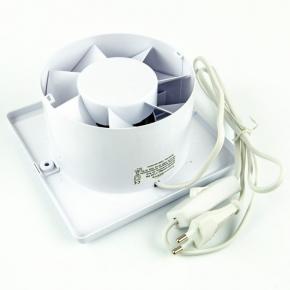 Wentylator ścienny z wyłącznikiem na przewodzie biały 01-096 E125 PS Planet Energy airRoxy