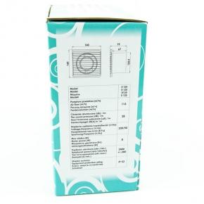 Wentylator ścienny standardowy biały 8W 01-095 E125 S Planet Energy airRoxy