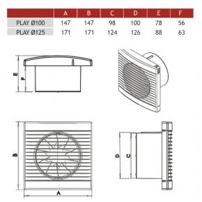 Wentylator wyciągowy biały PLAY CLASSIC 100S 007-3600 DOSPEL