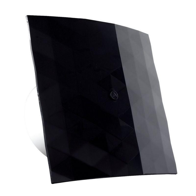 007 4326b Ekskluzywny Czarny Wentylator łazienkowy Z Czujnikiem Wilgotności Blackwhite 100 Wch Dospel