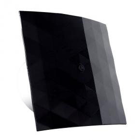 007-4325_B Nowoczesny wentylator łazienkowy Black&White 100 S z nakładką czarną DOSPEL