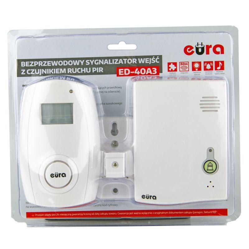 Sygnalizatory-wejsc-z-czujnikiem-ruchu - sygnalizator wejść bezprzewodowy z czujnikiem ruchu rl-3979pir ed-40a3 eura firmy EURA TECH