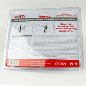 Sygnalizatory-wejsc-z-czujnikiem-ruchu - sygnalizator wejść bezprzewodowy z czujnikiem ruchu rl-3979pir ed-40a3 eura