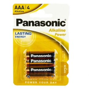 Bateria alkaliczna LR03 AAA BL4 PANASONIC