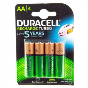 Akumulatorki 4xAA 2500mAH HR06/B4 Recharge Turbo DURACELL
