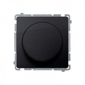 Ściemniacz do LED ściemnialnych naciskowo-obrotowy grafit mat BMS9L.01/28 Simon Basic  Kontakt-Simon