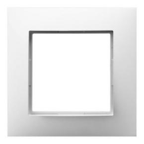 Ramka pojedyncza biała R-1U/00 ARIA OSPEL