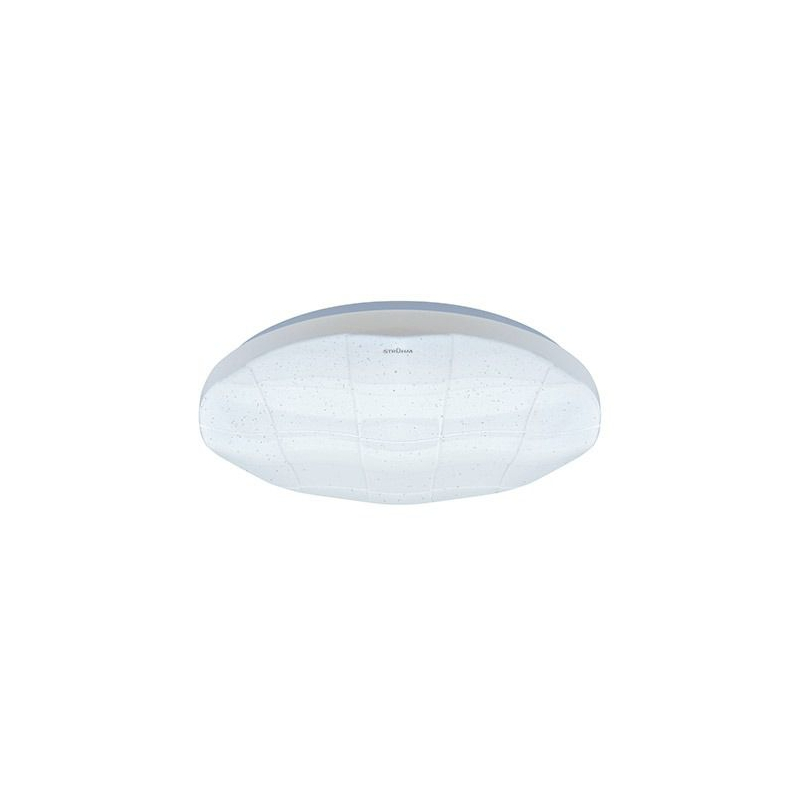 Plafony - nowoczesna plafoniera led w kolorze białym 24w 4000k ip44 sparta led c 03637 ideus firmy IDEUS