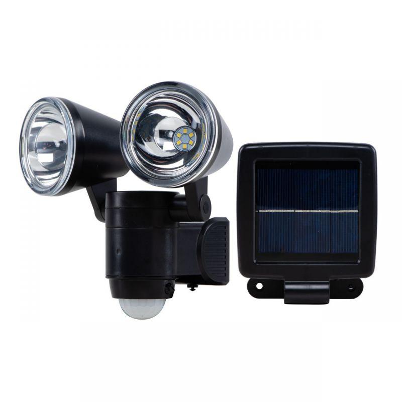 Naświetlacz LED z czujnikiem i panelem solarnym 6W IP44 360lm 6000k zimny VO1872 VOLTENO