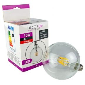 Żarówka dekoracyjna LED filament G125 E27 10W-105W 1100lm 360° 2700K TRIXLINE