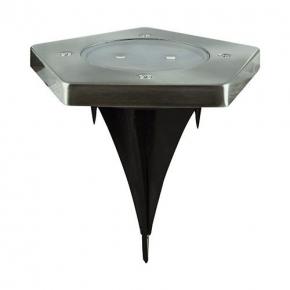 Lampa solarna LED chrom 0,5W 5700K 2x10lm IP65 GARET LED 03614 IDEUS