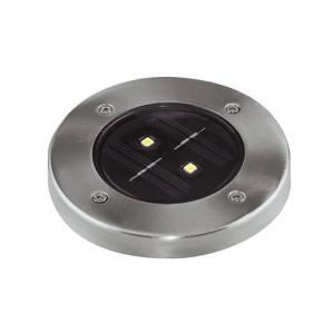 Lampa solarna LED z zimnym światłem chrom 0,5W 5700K 2x10lm IP65 GARET LED 03613 IDEUS
