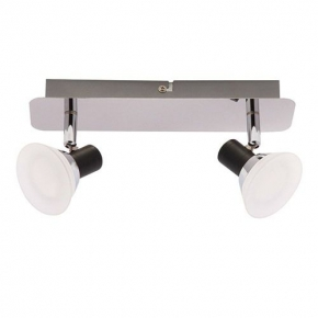 Lampa ścienno-sufitowa LED z ciepłym światłem chrom 2x6W 2x490lm 3000K 02845 ZUZA SMD LED 2L IDEUS