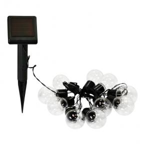 Lampa solarna girlanda 3,8m LED 10sztuk przezroczysta IP44 3000K POLUX