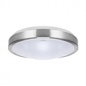 Okrągła plafoniera led ze srebrną obudową 26cm 12W 4000K ALEX 03562 IDEUS